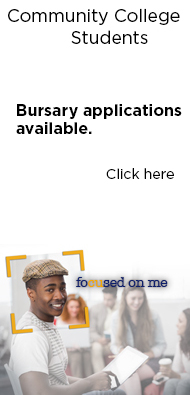 Community College Students. Bursaries Available. Click Here.