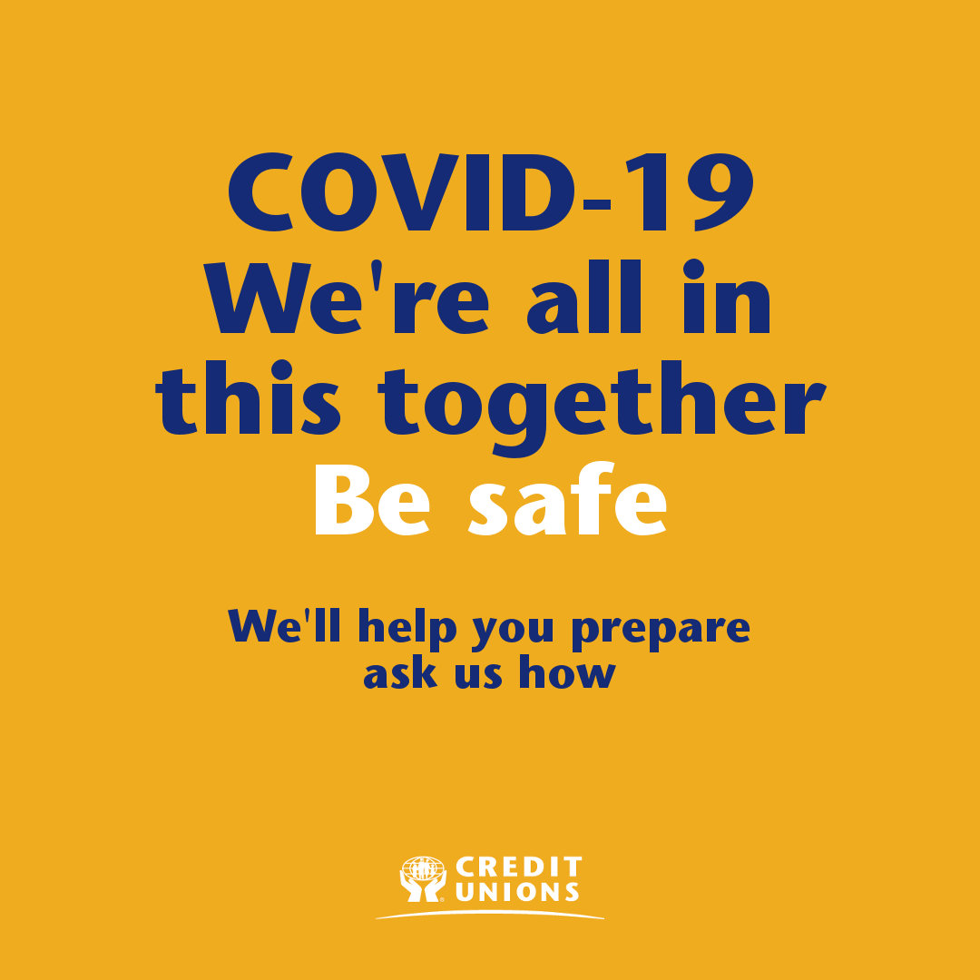 COVID-19. We're all in this together. Be Safe.