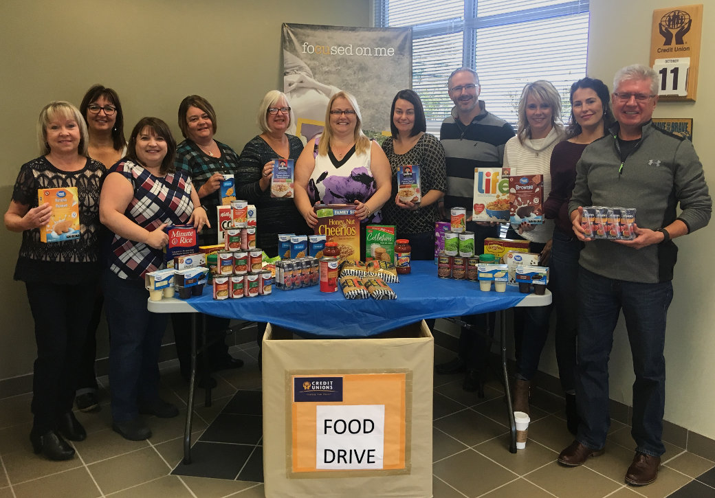 Your help in collecting for the food bank is much appreciated and you can drop at Public Service Credit Union 403 Empire Ave.