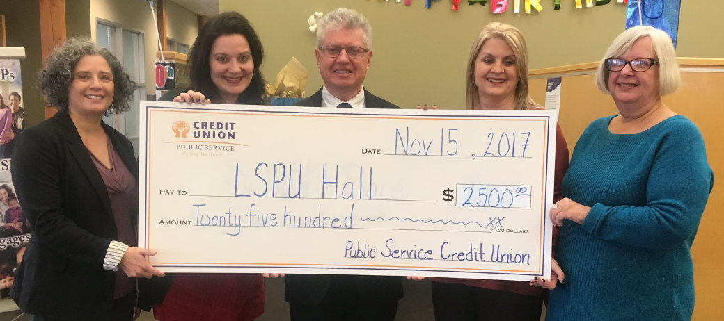 Public Service Credit Union contributed $2,500 to Resource Centre for the Arts/LSPU Hall on November 15, 2017