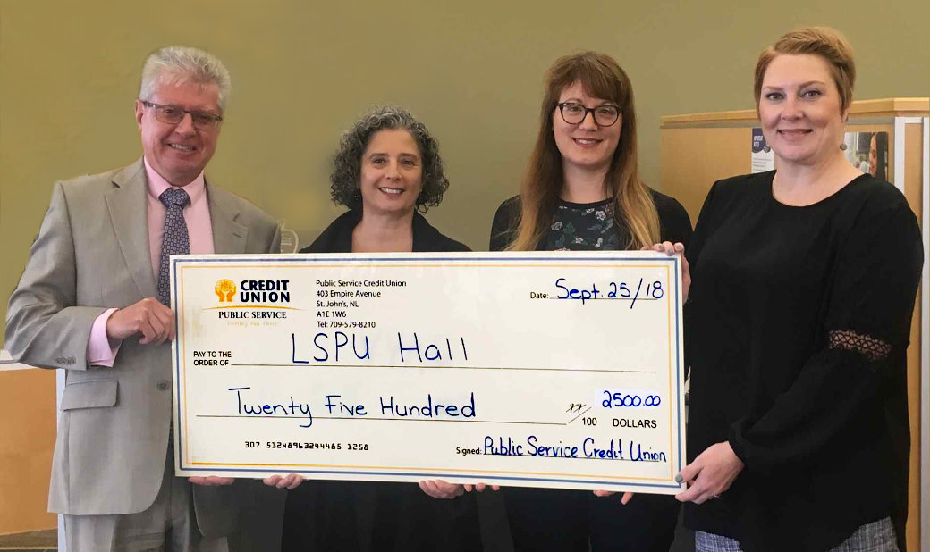 PSCU sponsors LSPU Hall $2,500 to support the arts community.