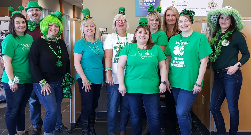 PSCU staff wishes you a Happy St. Patrick's Day!