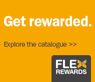 Get rewarded. Explore the catalouge. FlexRewards