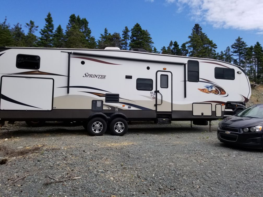 For sale: $24,000. 2013 Sprinter 5th Wheel  32 ft with outdoor kitchen. Call 709-579-8210 ask for Sharon Tucker or Brian Quilty